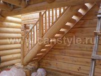 Деревянные лестницы прямые одномаршевые