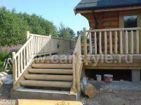 деревянное крыльцо для террасы