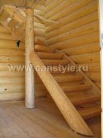 Поворотные лестницы с забежными ступенями